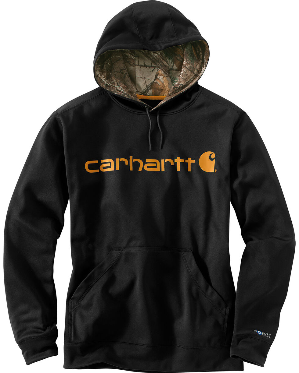 Carhartt Extremes® Force Signature Graphic Hooded Sweatshirt - Big & Tall, Black, hi-res