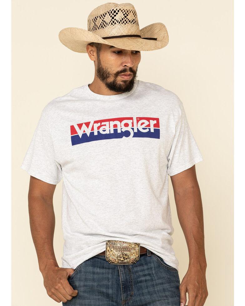 Wrangler Men's White Logo Graphic Short Sleeve T-Shirt , White, hi-res