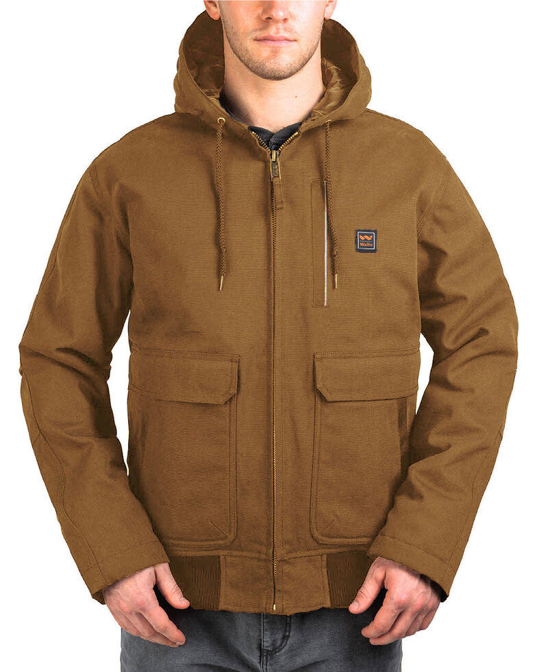 Walls Men's Blizzard Pruf Insulated Hooded Jacket, Pecan, hi-res