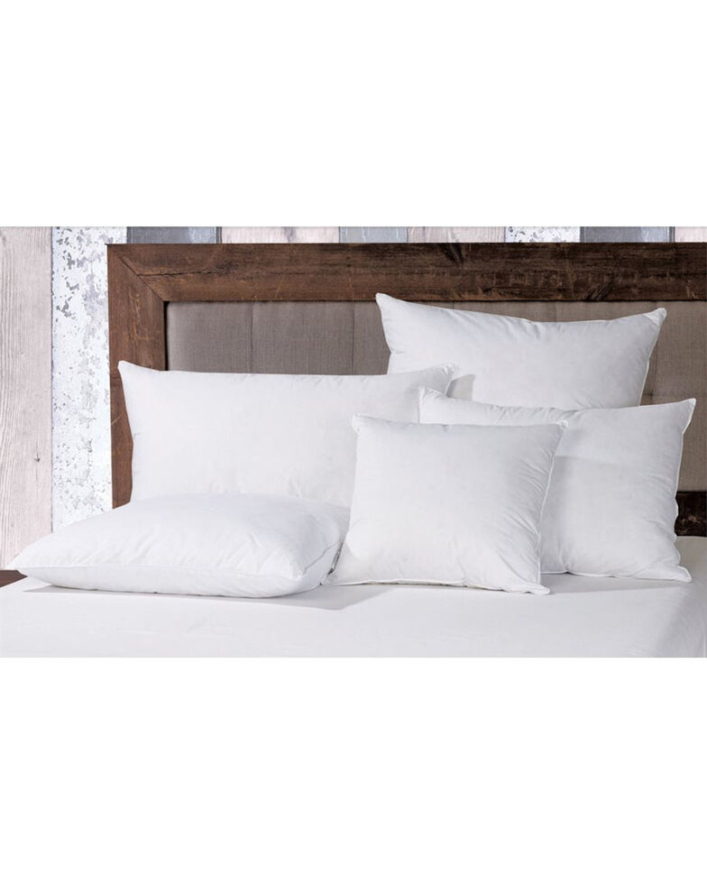 HiEnd Accents White Down Pillow Sham Inserts , White, hi-res