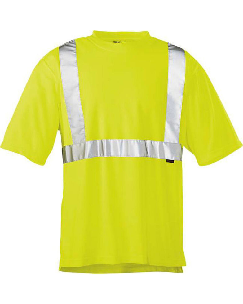 Wolverine Men's Yellow Caution Short Sleeve Tee , Yellow, hi-res