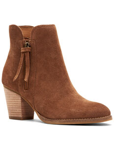 Frye & Co. Women's Allister Zipper Fashion Booties, Cognac, hi-res