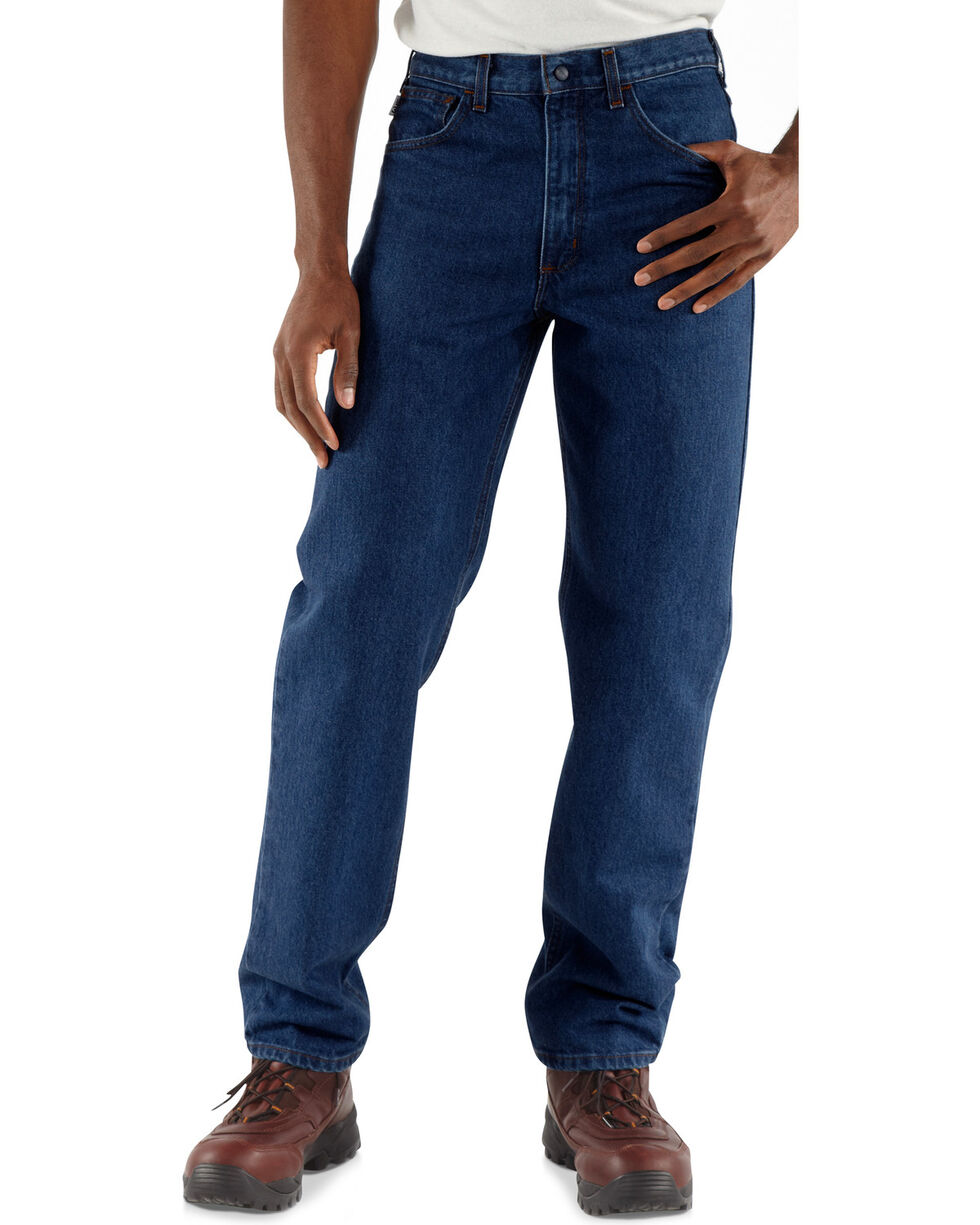 Carhartt Men's Flame-Resistant Relaxed Fit Jeans, Denim, hi-res