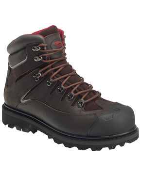 "Avenger Men's 6"" Rugged Work Boots - Composite Toe, Brown, hi-res"