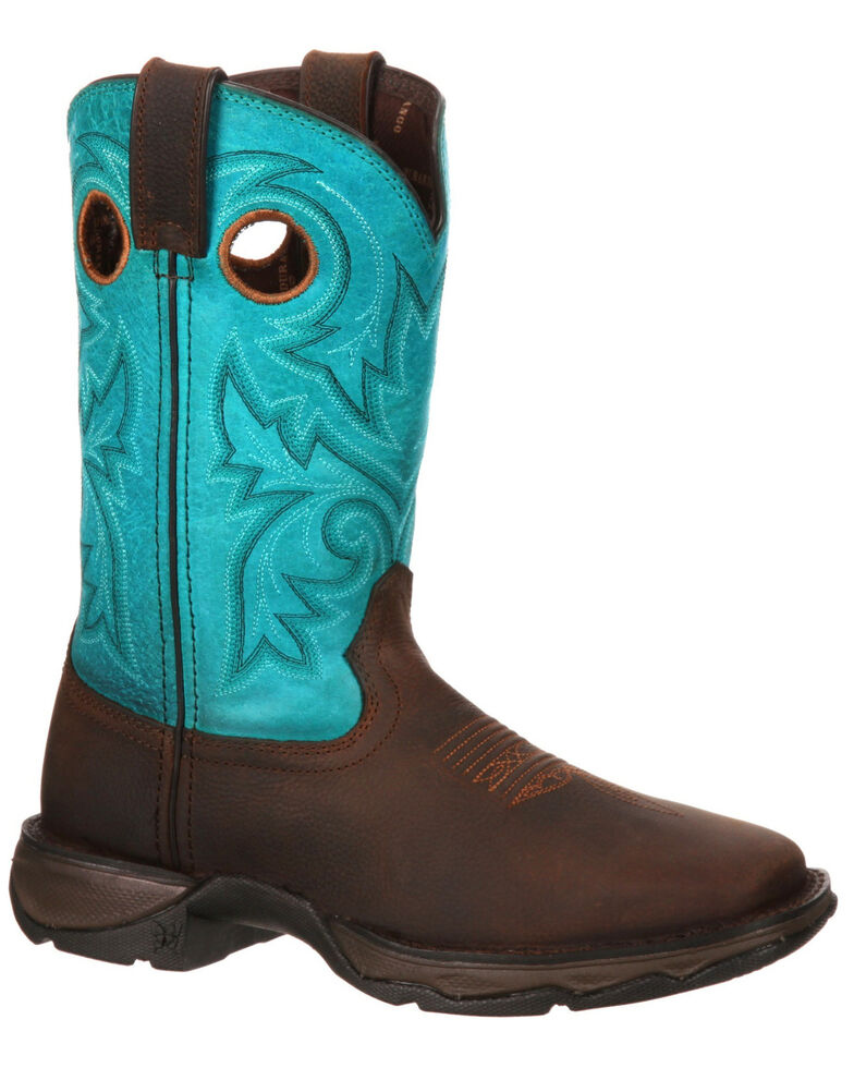 Durango Women's Rebel Western Work Boots - Steel Toe, Brown, hi-res