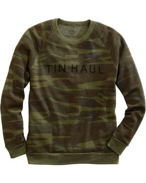 Tin Haul Men's Camo Sweatshirt, Green, hi-res