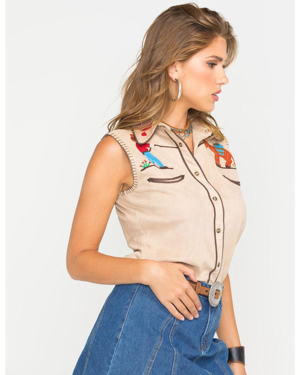 Tasha Polizzi Women's Faux Suede Siesta Shirt, Sand, hi-res