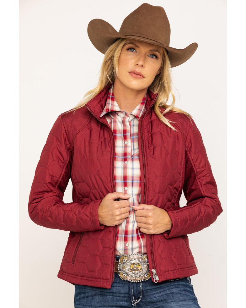 Ariat Women's Cabernet Heather Volt Jacket, Wine, hi-res