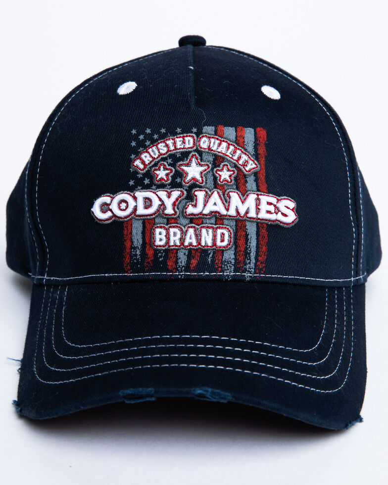 Cody James Men's Gradient Flag Ball Cap , Blue, hi-res