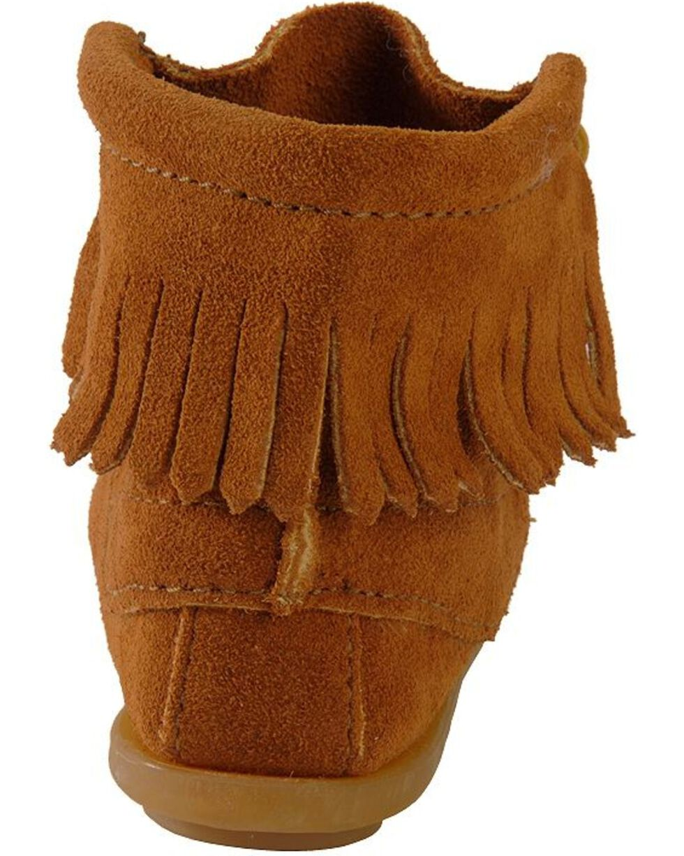 Minnetonka Girls' Ankle Tramper Moccasin Boots, Brown, hi-res