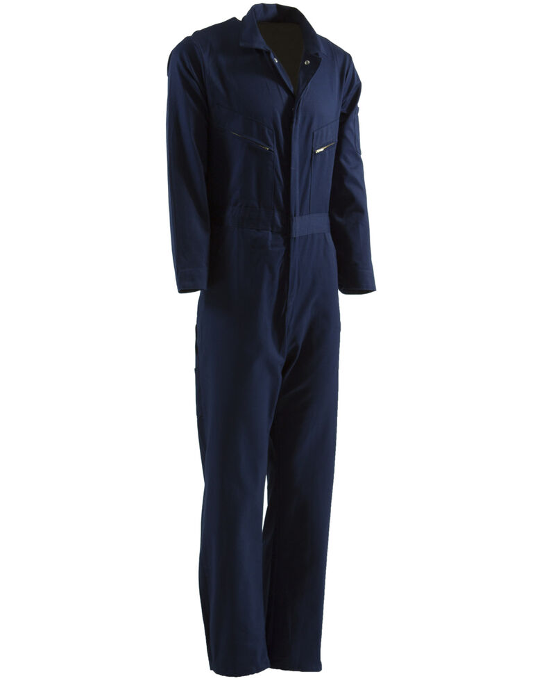 Berne Men's Navy Deluxe Unlined Coveralls - 3XL, Navy, hi-res