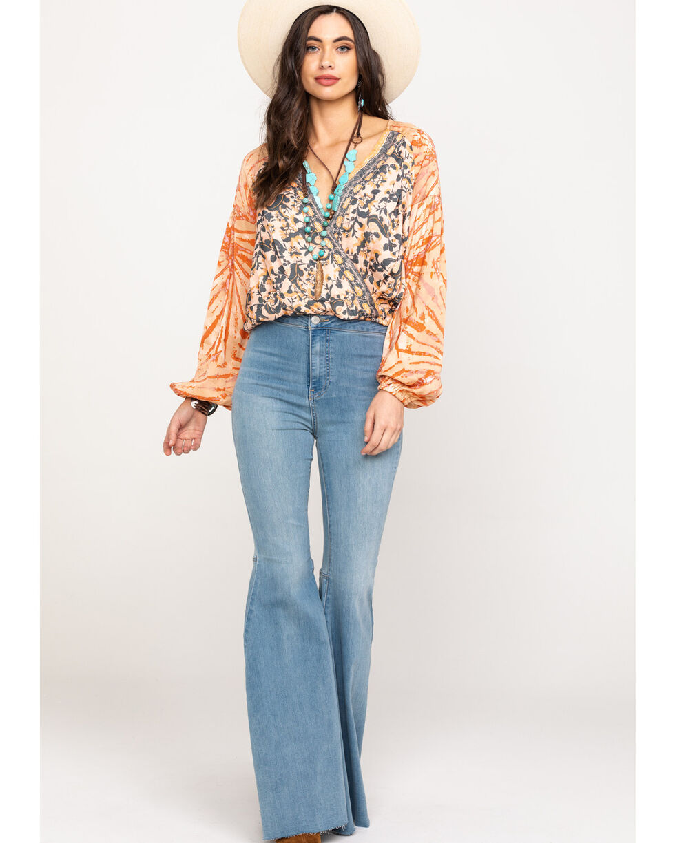Free People Women's Cruising Together Printed Top, , hi-res