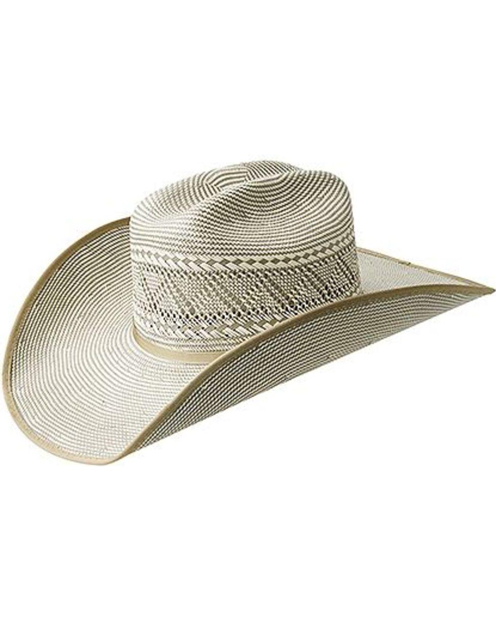 Vintage like new men/'s 10 gallon cream white straw cowboy hat by Bailey U Rollit Men/'s size 7 38 Tall men/'s straw cowboy hat Made in USA