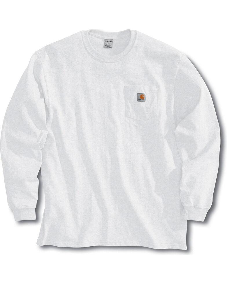 Carhartt Men's Workwear Long-Sleeve Pocket T-Shirt - Tall, White, hi-res