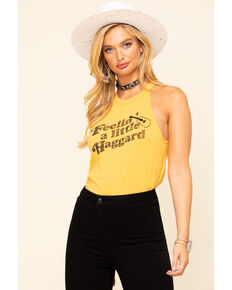 White Crow Women's Mustard Feelin' A Little Haggard Tank Top, Dark Yellow, hi-res