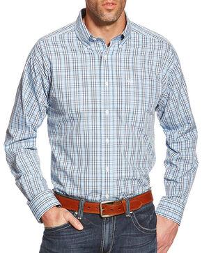 Ariat Men's Zeke Wrinkle Free Long Sleeve Shirt, Light/pastel Blue, hi-res