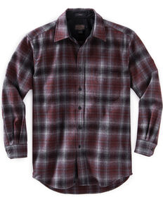 Pendleton Men's Grey and Red Ombre Lodge Shirt , Grey, hi-res