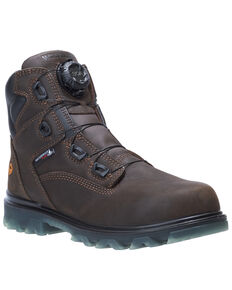 Wolverine Men's I-90 EPX Waterproof Work Boots - Composite Toe, Dark Brown, hi-res
