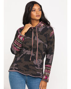 Johnny Was Women's Valmere Hoodie, Camouflage, hi-res
