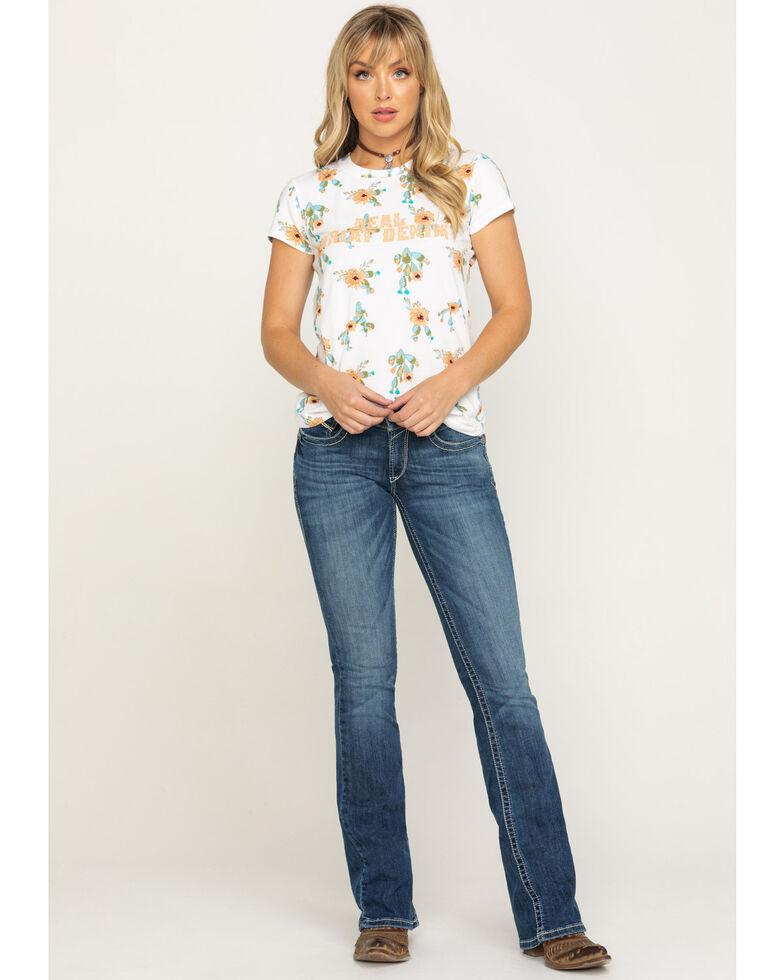 Ariat Women's Medium R.E.A.L. Carlie Bootcut Jeans, Blue, hi-res