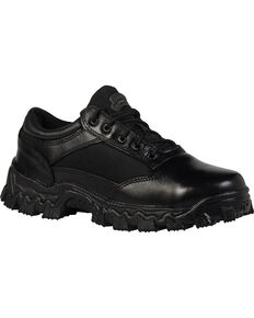 Rocky Men's Alpha Force Oxford Work Shoes, Black, hi-res