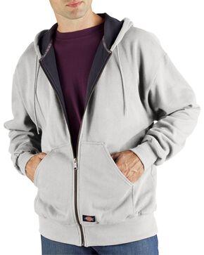 Dickies Midweight Fleece Zip-Up Hooded Work Jacket - Big & Tall, Ash Grey, hi-res