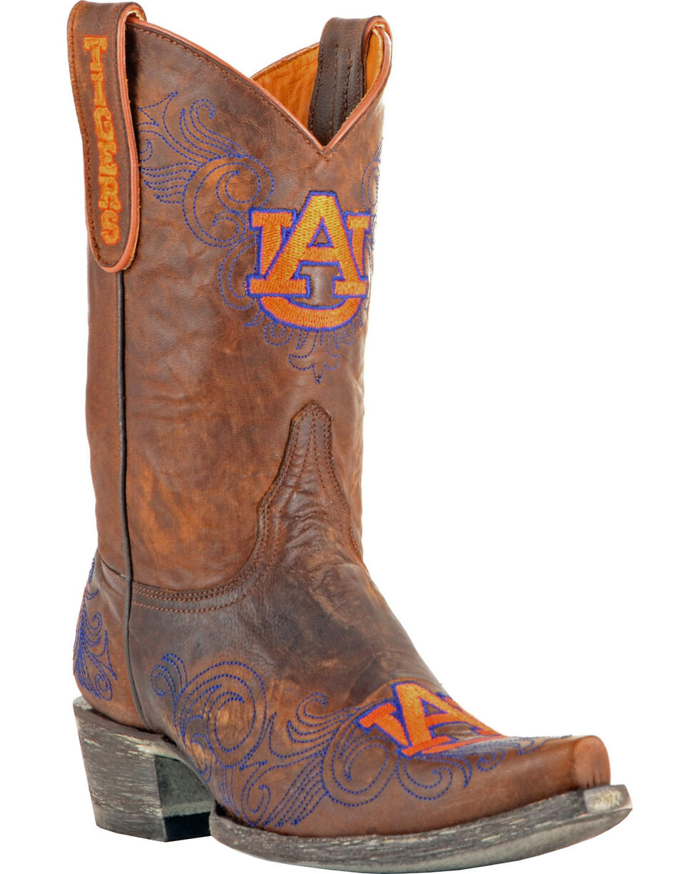 Gameday Auburn University Cowgirl Boots - Snip Toe, Brass, hi-res