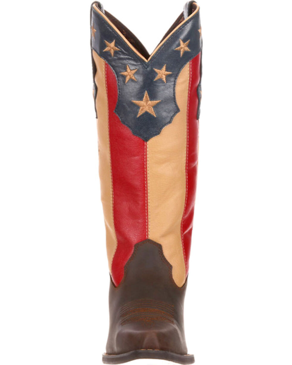 Crush by Durango Women's Stars and Stripes Western Boots, Brown, hi-res