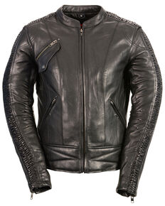 Milwaukee Leather Women's Concealed Carry Embroidered Phoenix  Leather Jacket - 3X, Black, hi-res