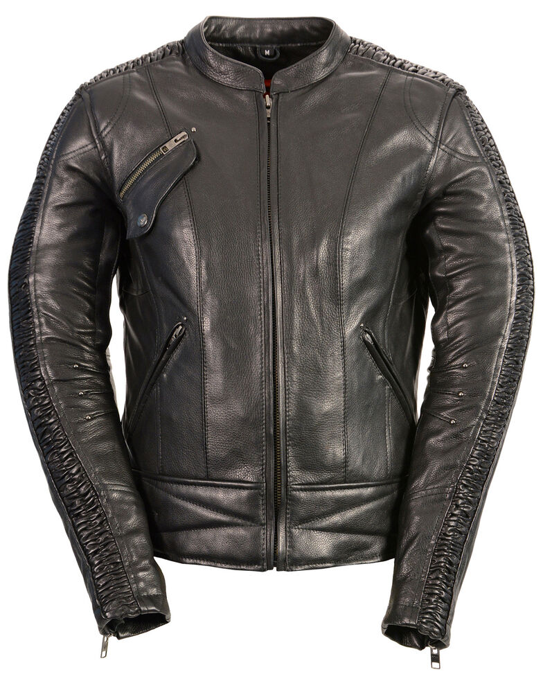 Milwaukee Leather Women's Concealed Carry Embroidered Phoenix  Leather Jacket - 3X, , hi-res