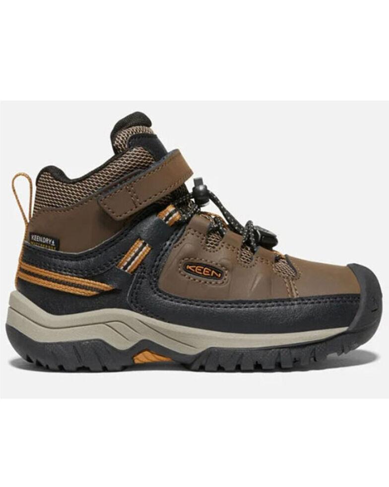 Keen Kid's Targhee Waterproof Hiking Boots, Brown, hi-res