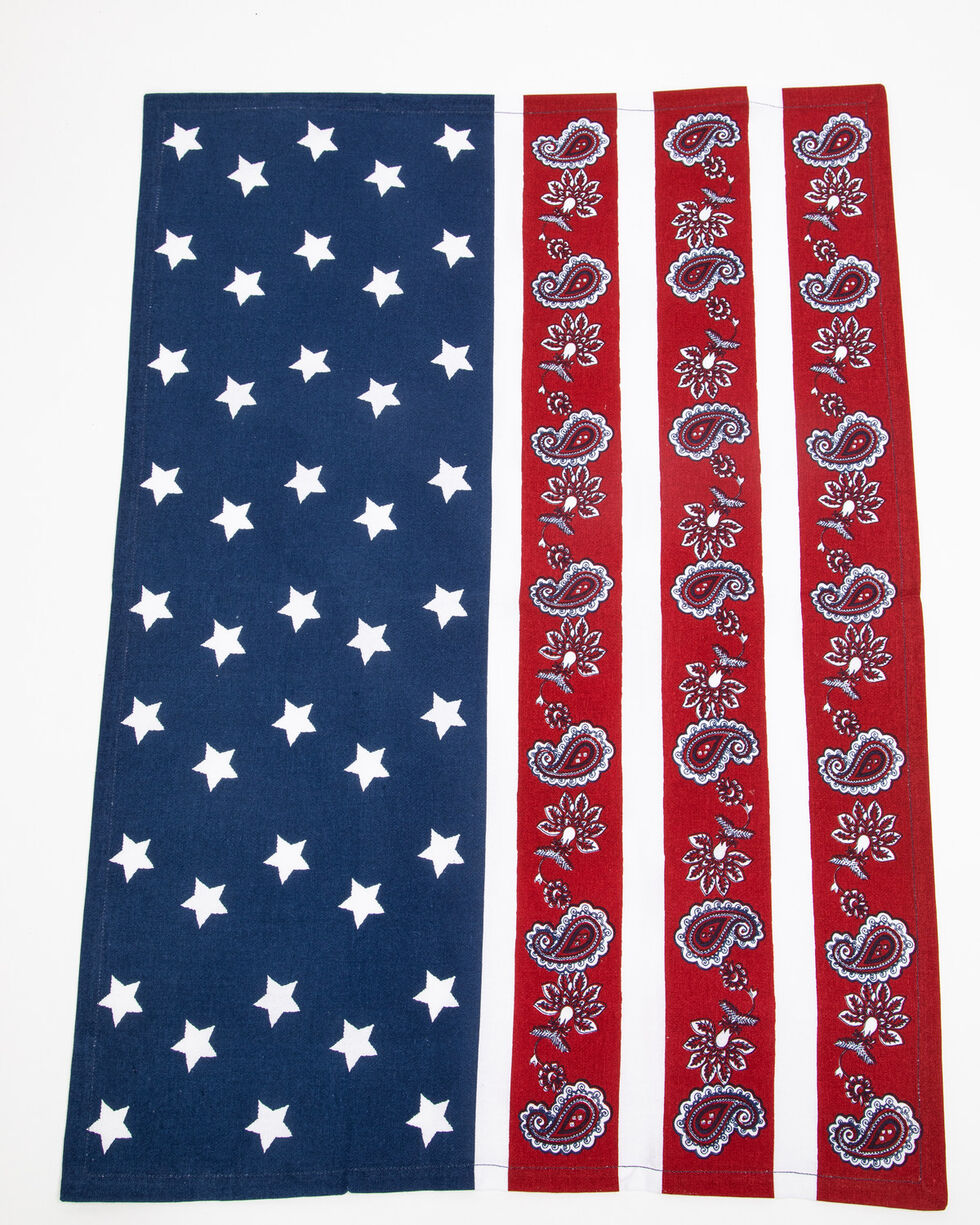 BB Ranch Americana Paisley Tea Towel, Multi, hi-res