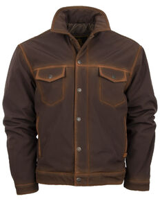 STS Ranchwear Men's Denim Cut Brumby Brown Jacket, Brown, hi-res