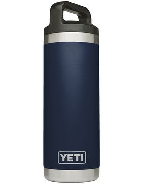 Yeti Navy 18oz Rambler Bottle, Navy, hi-res