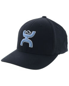 HOOey Men's Unrung Blue Logo Ball Cap , Black, hi-res