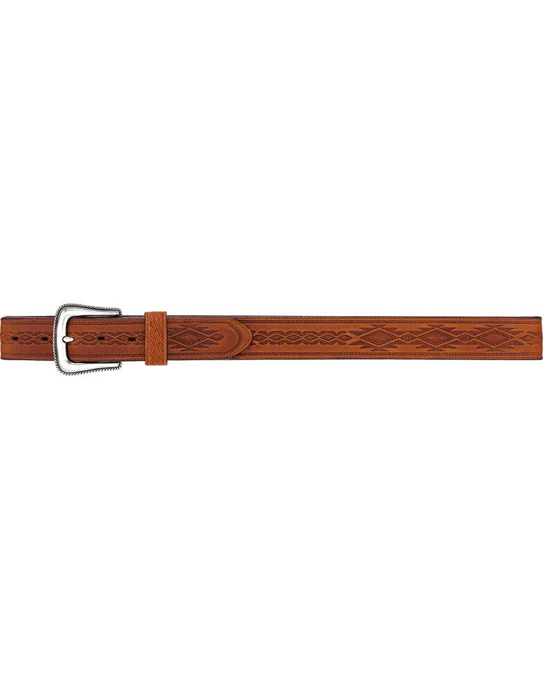 Tony Lama Men's Navajo Blanket Leather Belt, Brown, hi-res