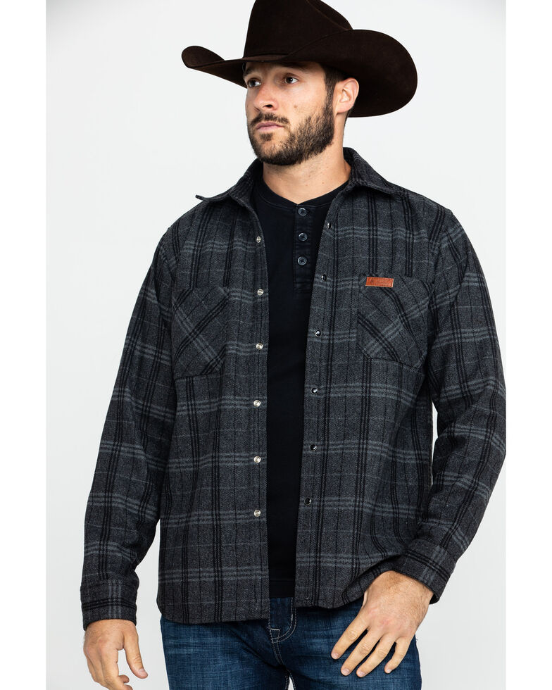 Outback Trading Co. Men's Black Clyde Big Shirt , Black, hi-res