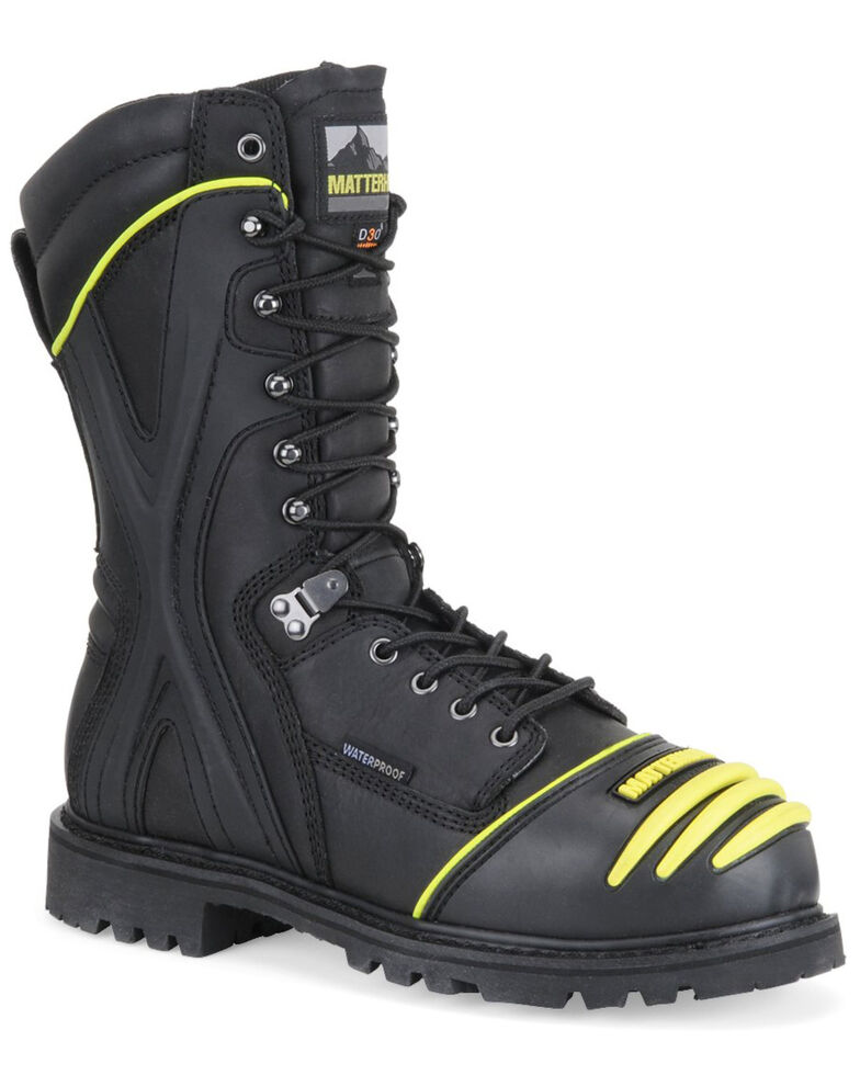 Matterhorn Men's Waterproof Mining Work Boots - Steel Toe, Black, hi-res