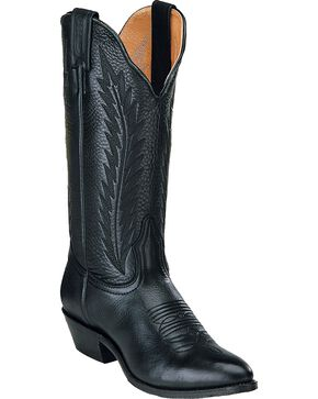 Boulet Cowgirl Boots - Medium Toe, Black, hi-res