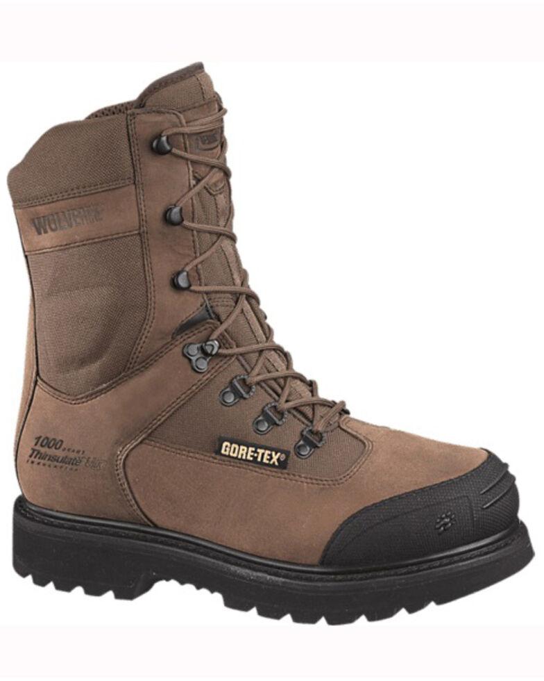 Wolverine Men's Big Sky Insulated Gore-Tex Waterproof Work Boots, Brown, hi-res