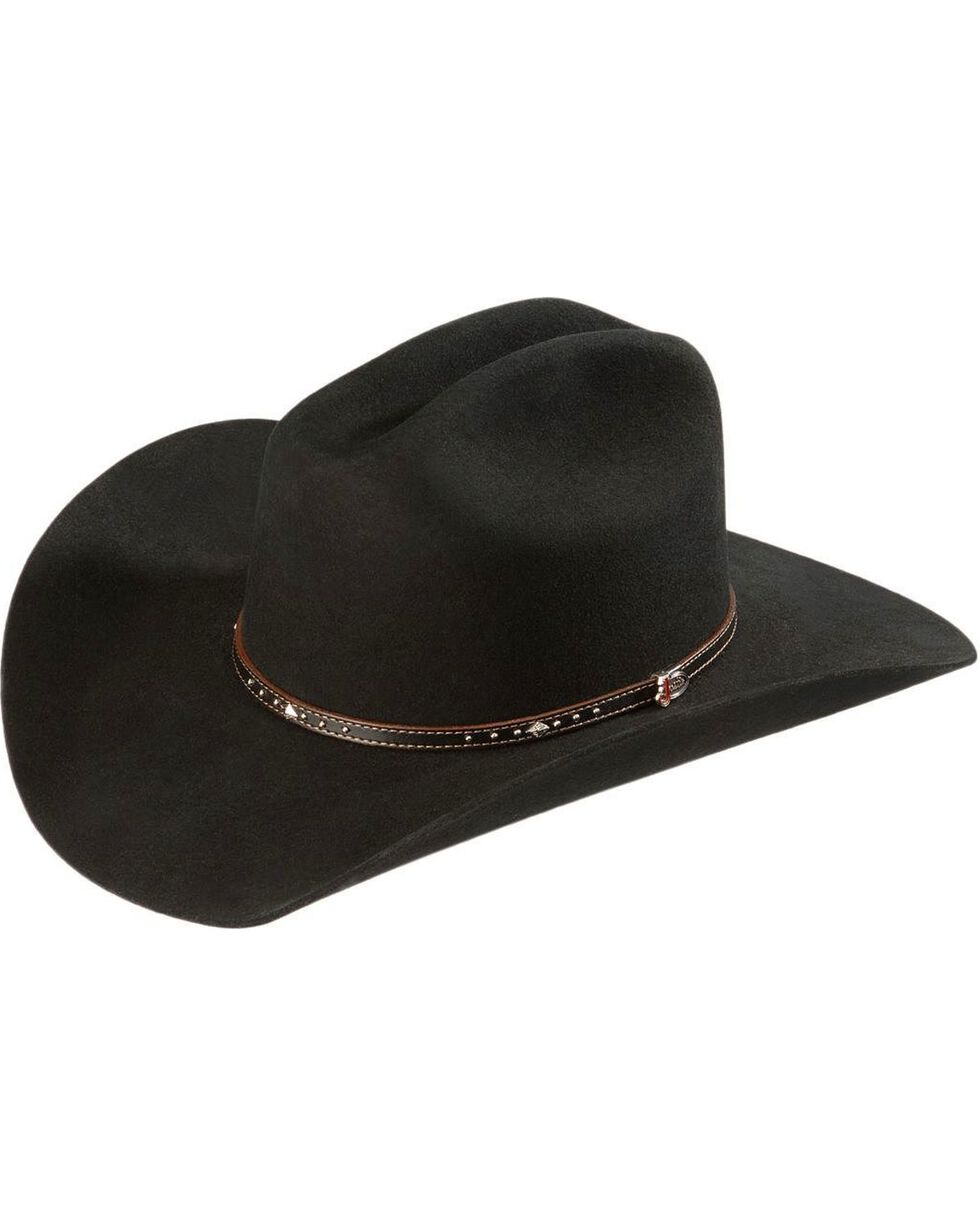 Justin 2X Black Hills Wool Hat, Black, hi-res