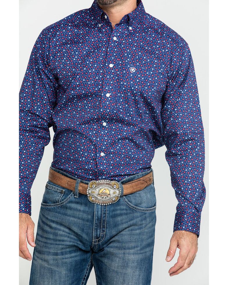 Ariat Men's Guliford Paisley Print Long Sleeve Western Shirt - Tall , Multi, hi-res