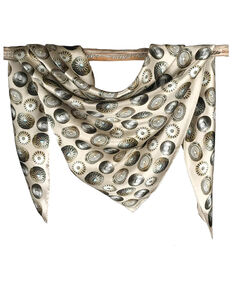 Fringe Scarves Women's Baby Concho Scarf, Ivory, hi-res