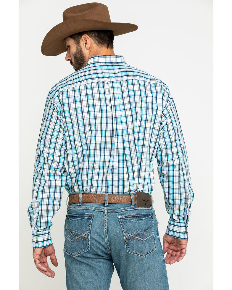 Ariat Men's Wrinkle Free Meadow Plaid Long Sleeve Western Shirt , Multi, hi-res