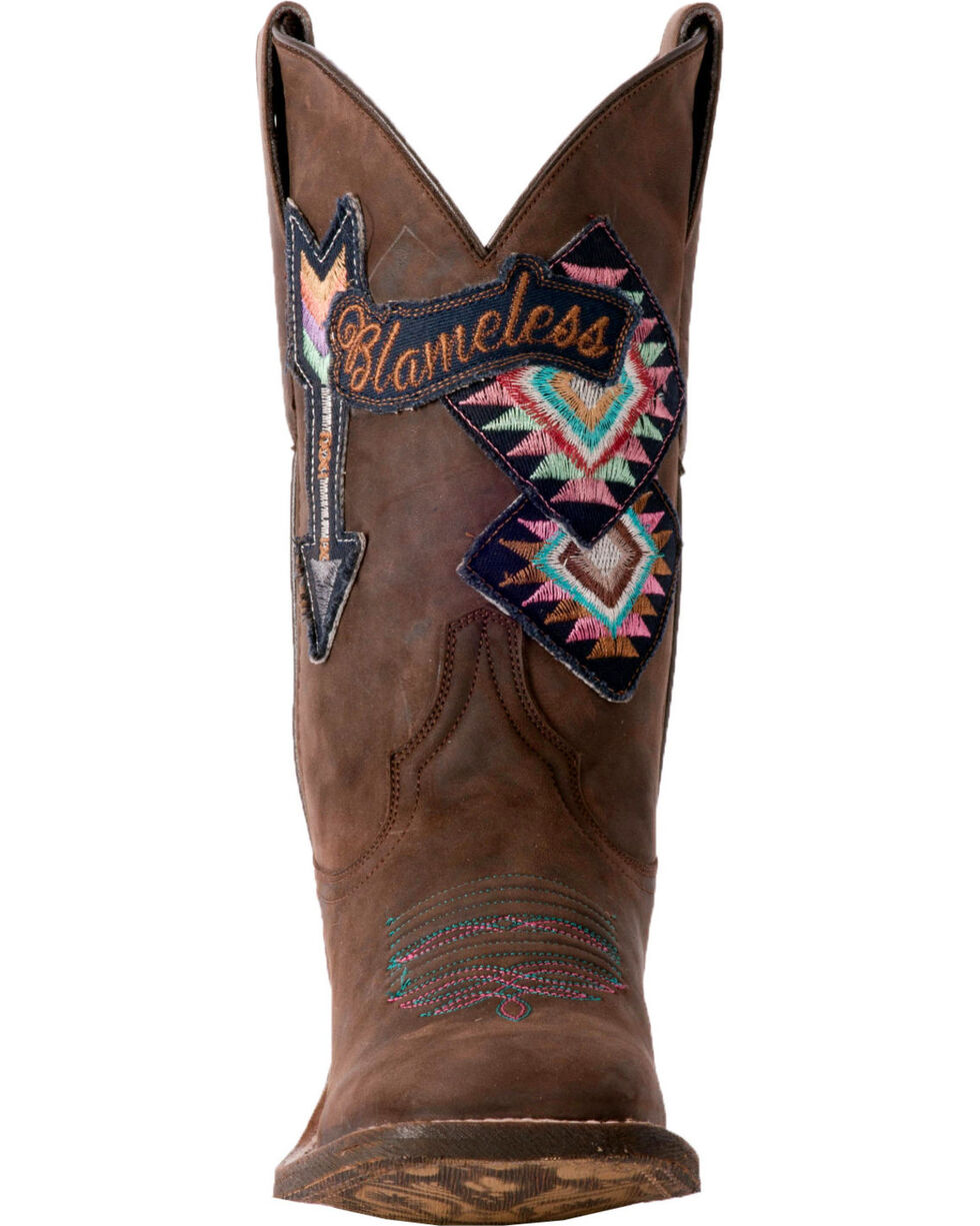 Laredo Women's Arty Blameless Arrow Cowgirl Boots - Square Toe, Brown, hi-res