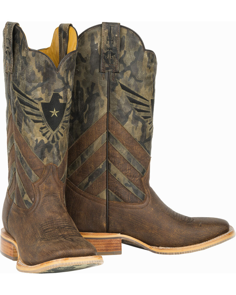 3b44b2a6e52 Tin Haul Sergeant at Arms Screaming Eagle Cowboy Boots - Wide Square Toe