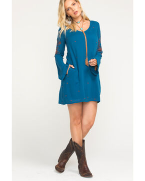 Idyllwind Women's Back At You Mini Dress, Teal, hi-res
