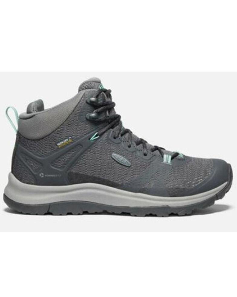 Keen Women's Magnet Ocean Wave Terradora II Waterproof Hiking Boot , Grey, hi-res