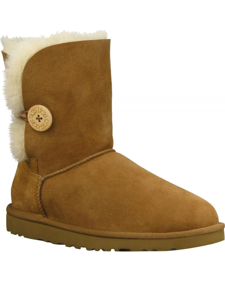 UGG Women's Chestnut Bailey Button Boots - Round Toe , Chestnut, hi-res