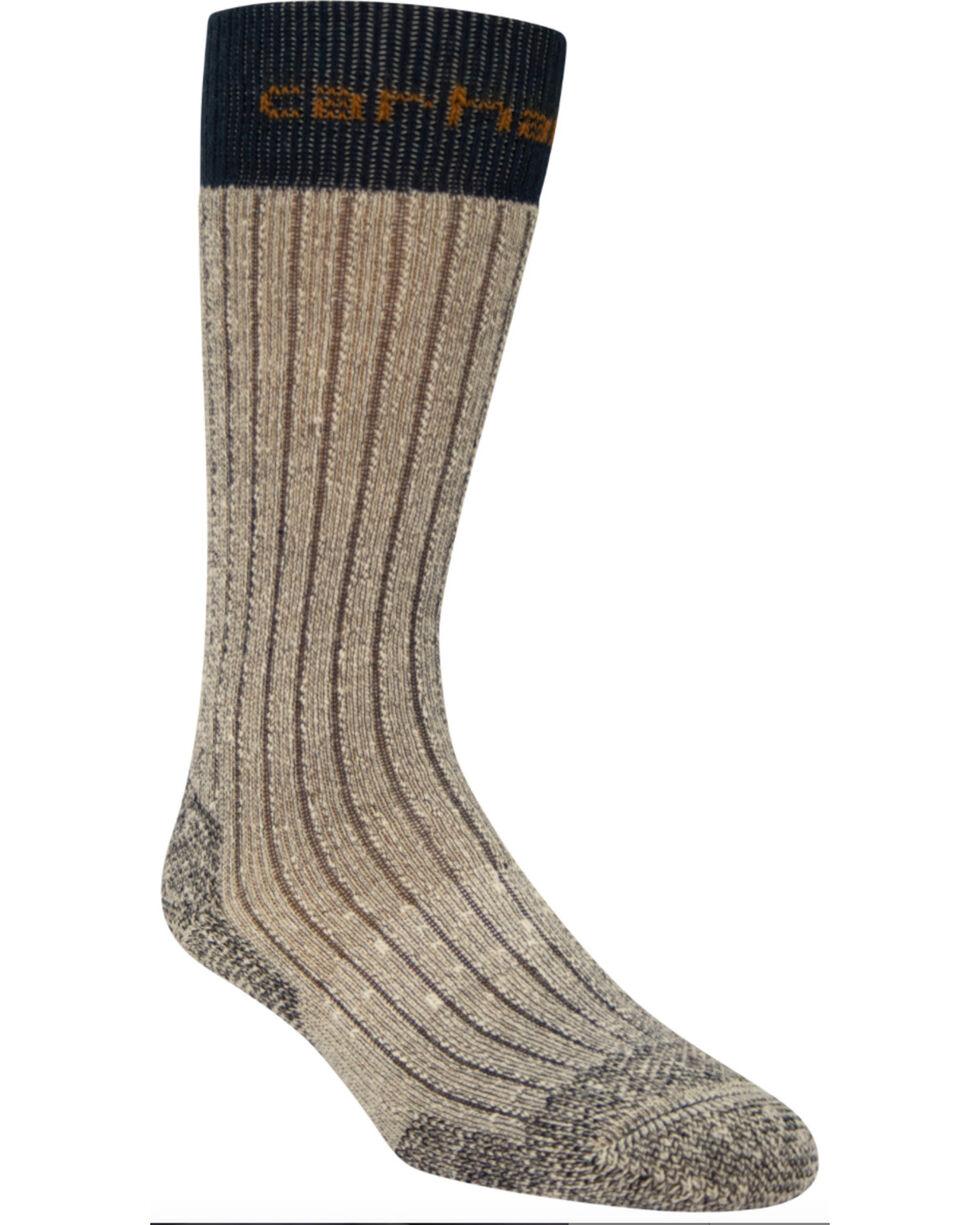 Carhartt Navy Steel Toe Arctic Wool Boot Socks, Navy, hi-res